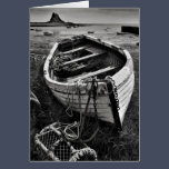 Old boat, Lindisfarne, Northumberland Card