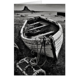 Old boat, Lindisfarne, Northumberland Greeting Card