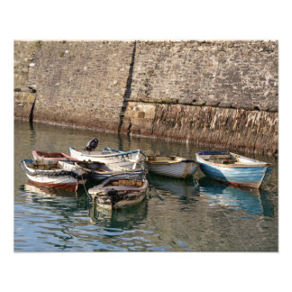 Old Boats Mevagissey Cornwall England Photo Print