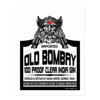 Old Bombay Gin Postcard