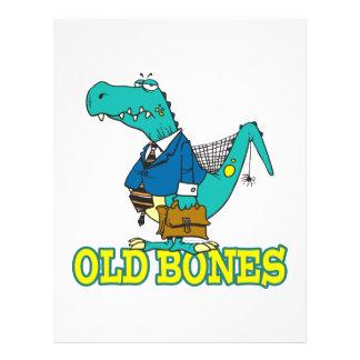 old bones funny dino dinosaur toon full color flyer