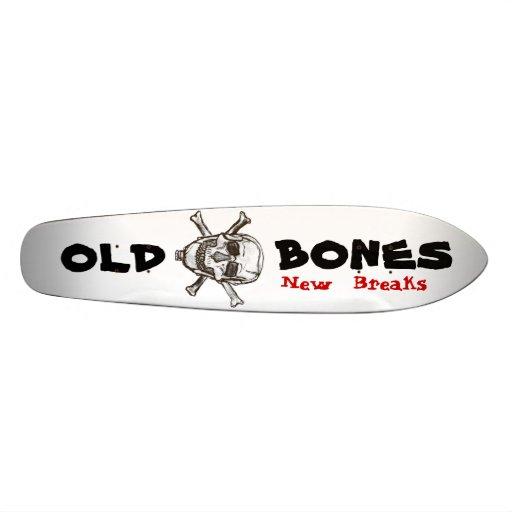 old bones  skull board skate decks