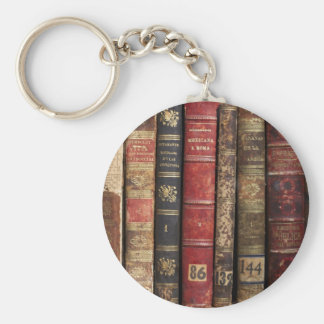 Old Book Basic Round Button Key Ring