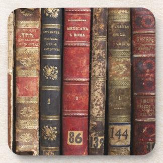 Old Book Beverage Coaster