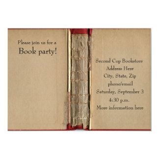 Old Book Invitation