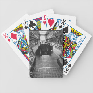 Old book shop bicycle playing cards