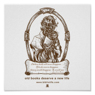 Old Books Deserve a New Life Poster