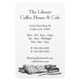 Old Books Restaurant Advertisement Custom Magnet