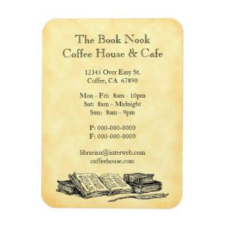 Old Books Restaurant Advertising Custom Magnet