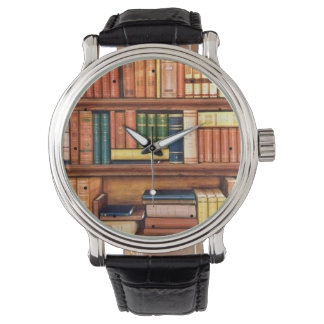 Old Books Vintage Library Bookshelf Watch