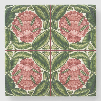 Old Botanical Victorian Design Stone Coaster