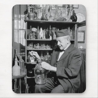 Old Bottle Collector, 1930s Mouse Pad