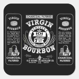 Old Bourbon Label Square Sticker