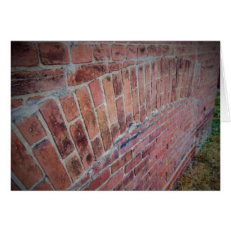 Old Brick Architecture Blank Greeting Card