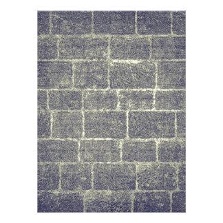 Old Brick Stone Design Nonsymmetric Stone Wall Personalized Announcements