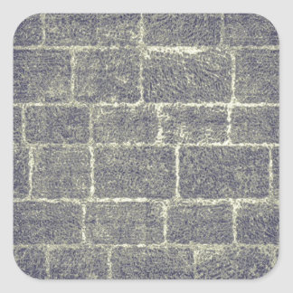 Old Brick Stone Design Nonsymmetric Stone Wall Square Sticker