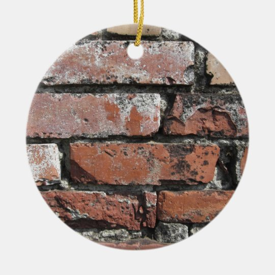 Old brick wall background christmas ornament