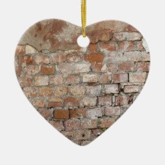 Old Brick Wall Ceramic Heart Decoration