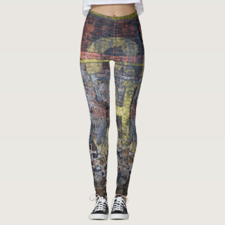 Old Brick Wall Graffiti Leggings
