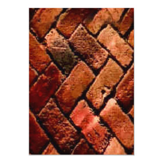 Old brick with nooks and crannies zigzag 13 cm x 18 cm invitation card