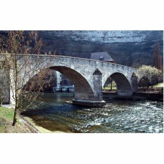 Old bridge, Fribourg, Switzerland Photo Cutout