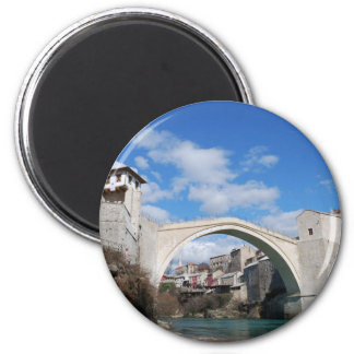 Old Bridge in Mostar 6 Cm Round Magnet