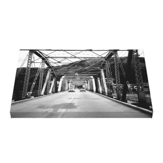 Old bridge of iron canvas print