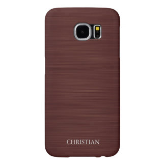 old brown metal personalized by name samsung galaxy s6 cases