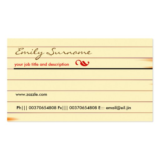 Old brown paper business card zazzle for Brown paper business cards