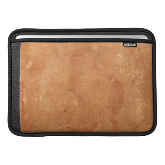 Old brown vintage leather and paper book cover MacBook air sleeves