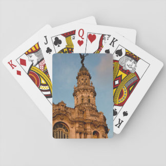 Old building Spire, Havana, Cuba Playing Cards