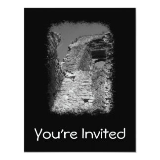 Old building. Stone Walls with Window. 11 Cm X 14 Cm Invitation Card