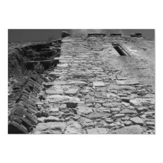 Old building. Tall Stone Wall. Custom Invitations