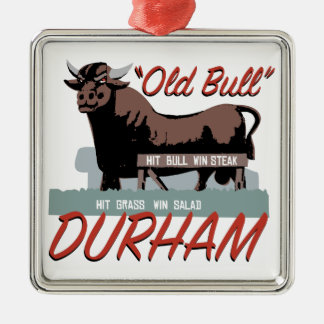 Old Bull Durham Silver-Colored Square Decoration