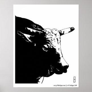 Old Bull Poster