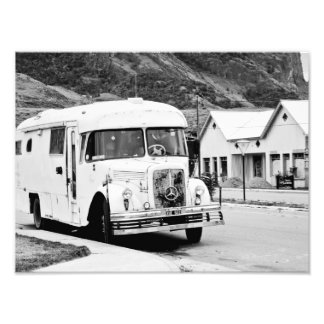 Old Bus in the street. Photographic Print