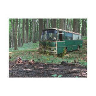 Old bus - old Iron Canvas Print