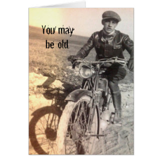 Old But Good Vintage Motorcycle Birthday Card