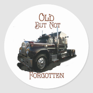 Old But Not Forgotten Round Sticker