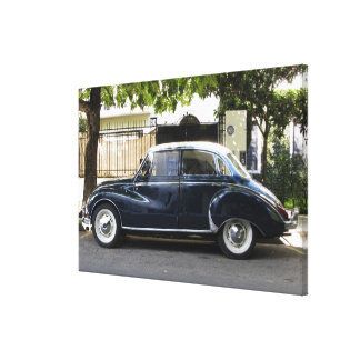 Old but very well kept Audi car. Canvas Print
