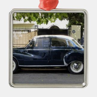 Old but very well kept Audi car. Silver-Colored Square Decoration