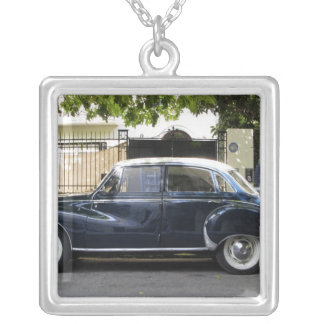 Old but very well kept Audi car. Silver Plated Necklace