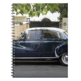 Old but very well kept Audi car. Spiral Notebook