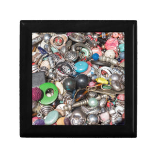 old buttons collection small square gift box