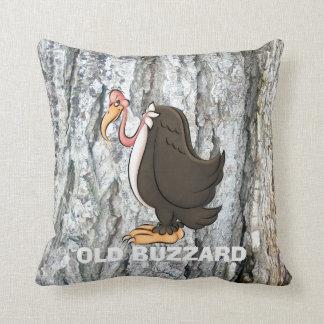 Old Buzzard cartoon throw pillow