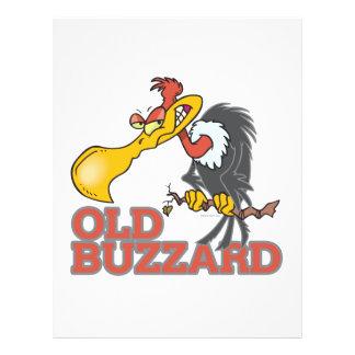 old buzzard funny cartoon character flyers