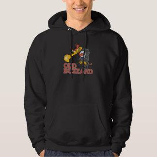 old buzzard funny cartoon character hoodie