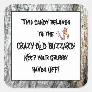 Old Buzzard's candy fun sticker