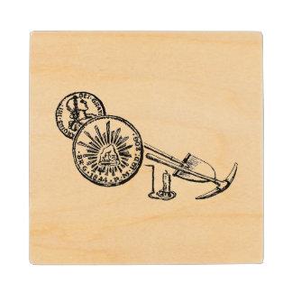 Old California Mining Days Wood Coaster