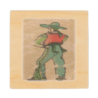 Old California Ranchero Wood Coaster